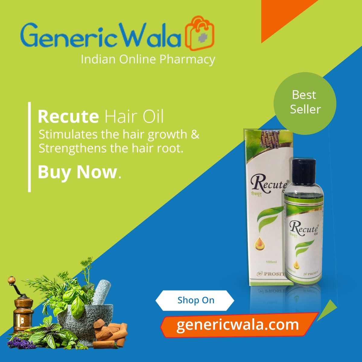 Recute Hair Oil 100 Ml Genericwala Com Indian Online Pharmacy Buy Generic And Branded Medicines Online Fast Delivery 4 Hours Delivery With In Hyderabad Cash On Delivery